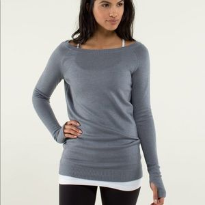 lululemon athletica Sweaters - Lululemon Chai Time II gray sweater size 8
